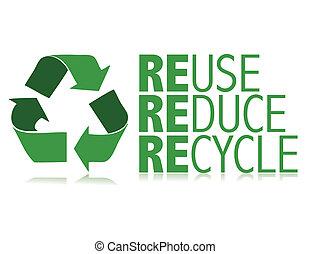 reciclar, vector, /