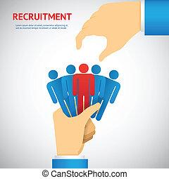 reclutamiento, recurso, humano