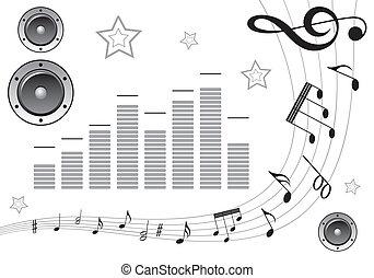 Recoja el elemento musical