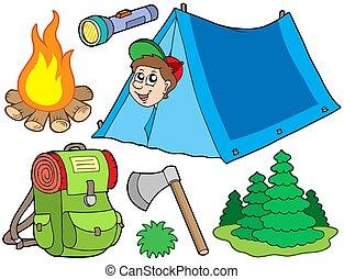 Recolección de campamento