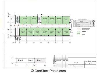 Reconstrucción del plan de la sección de producción