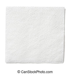 recorte, cuadrado, servilleta, aislado, papel, included, trayectoria, blanco