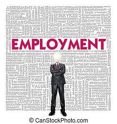 recurso, concepto de la corporación mercantil, humano, palabra, empleo, nube