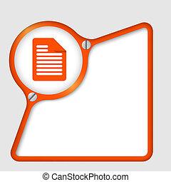 Red abstract marco con tornillo y icono documentado