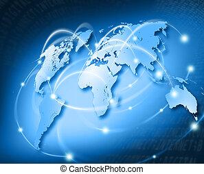 red, conectado, mundo
