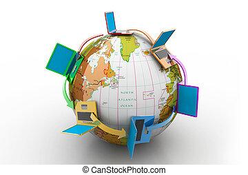 Red de computadoras alrededor del mundo