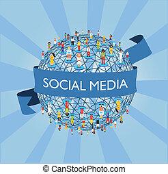 Red de redes sociales mundiales