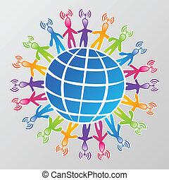 Red mundial de medios sociales