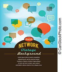 Red social, medios de comunicación y comunicación al estilo antiguo