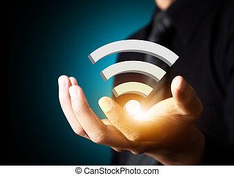 red, wifi, social, tecnología