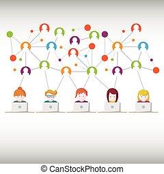 redes sociales, gente de la red