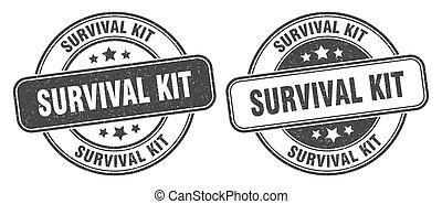 redondo, label., señal, grunge, stamp., equipo de emergencias