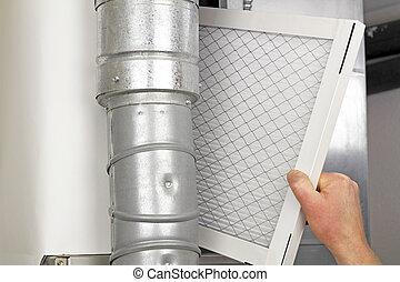 Reemplazo de filtro de aire casero