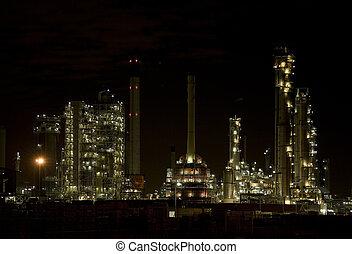 refinería, 1, noche