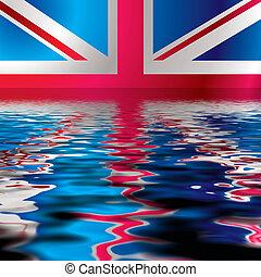 reflejar, bandera, británico