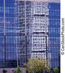Reflejo del bloque de torres