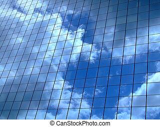 Reflejo del cielo horizontal