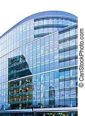 Reflejos de oficina azul