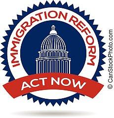 reform, inmigración, sello