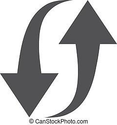 Refresco icono en negro en un fondo blanco. Ilustración de vectores