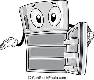 refrigerador, vacío, mascota