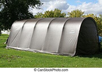 refugio, marrón, al aire libre, garaje