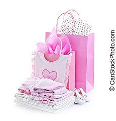 Regalos de despedida de bebé rosados