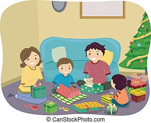 Regalos de Navidad familia