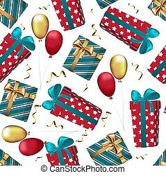 regalos de navidad, patrón, seamless