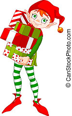 regalos, duende, navidad