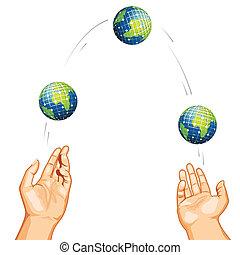 Regateando con el globo