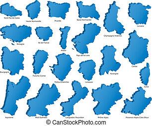 regiones, francés
