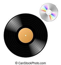 registro, vinilo, cd