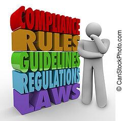 Reglas de cumplimiento del pensador de normas legales