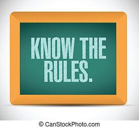 reglas, diseño, saber, ilustración