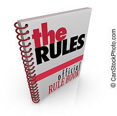 reglas, funcionario, manual, reglamento, direcciones