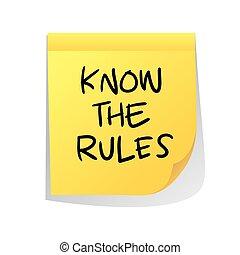 reglas, saber