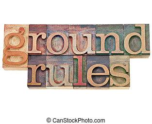 reglas, suelo
