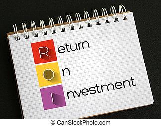 regreso, inversión, -, roi, siglas