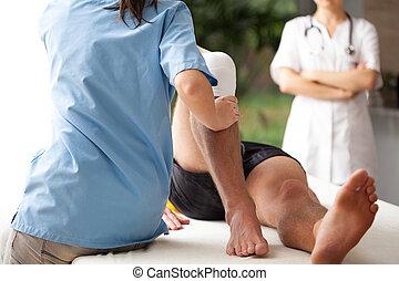 Rehabilitación de pierna rota
