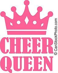 Reina de las animadoras con corona