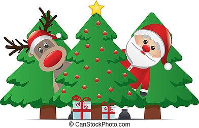 Reindeer Santa Claus regalo de Navidad