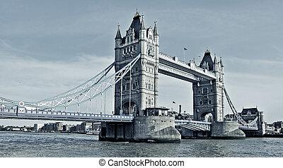 reino, tender un puente sobre la torre, unido, londres