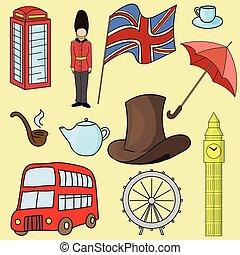 Reino Unido de grandes símbolos británicos