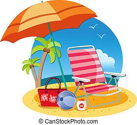 Relájate en la playa