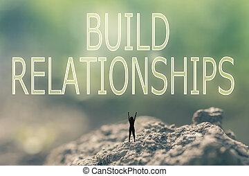 relaciones, construya