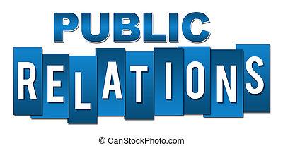 Relaciones públicas azules profesionales