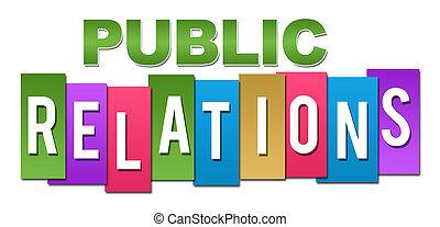 Relaciones públicas de color profesional