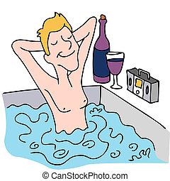 Relajarse en un spa