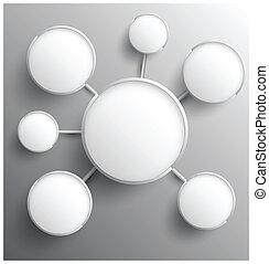 relationship., círculo, moderno, grupo